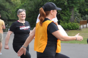 Mary, on the left in this photo, came to the Fun Day after hearing about it on the Pre-Diabetes course.