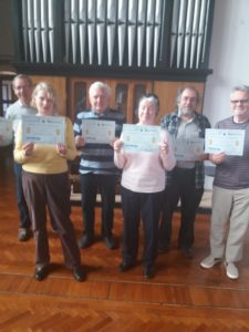 Pre-diabetes course completers with their certificates