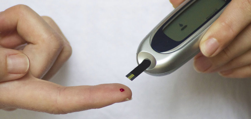 pinprick blood sugar test