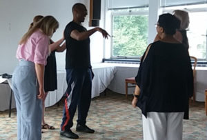 Attendees receive an introduction to Tai Chi